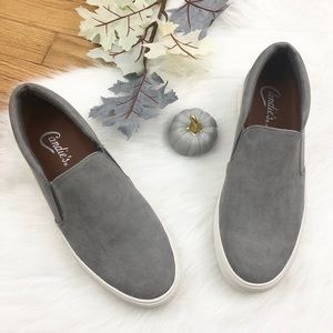 Candie's Solar Grey Slip On Shoes, 9.5